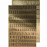 Tim Holtz Idea-ology Metallic Stickers: Alpha Gold