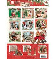 Merry and Bright Diorama  - korttikuvalehtiö