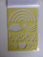 Enchanting Rainbow stamps & stencil -setti