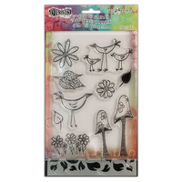 Stamps & Stencil: Garden Leaves