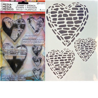 Stamps & Stencil: Love Rocks