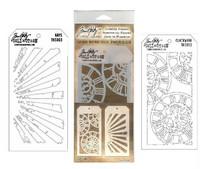 Layering Stencils: Clockwork & Rays - tuplapakkaus