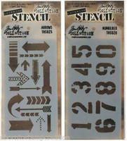 Layering Stencils: Numbered & Arrow - tuplapakkaus