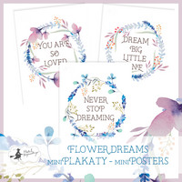 Mini Posters: Flower Dreams