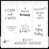 Mini Posters: Words