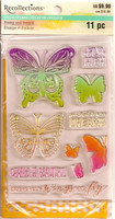 Color Splash Stamp & Stencil: Butterflies - setti