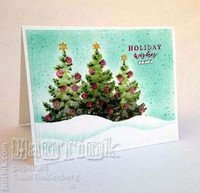 Color Layering: Christmas Tree - leimasinsetti