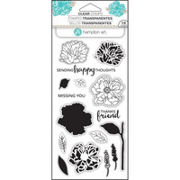 Layering Clear Stamps:  Flower Happy -kirkas leimasinsetti