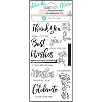 Layering Clear Stamps:  Words -kirkas leimasinsetti