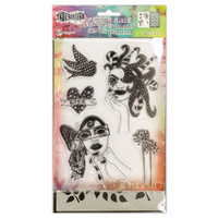 Stamps & Stencil: Fancy Lady