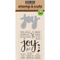 Stamp & Cut: Joy -setti