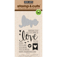 Stamp & Cut: Love -setti