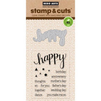 Stamp & Cut: Happy -setti