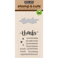 Stamp & Cut: Thanks -setti