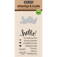 Stamp & Cut: Hello -setti