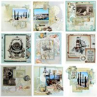 Sea Breeze Die Cut Ephemera -leikekuviot