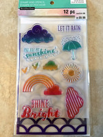 Color Splash Stamp & Stencil: Let It Rain - setti