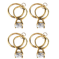Diamond Ring Charms  -metallikoristeet
