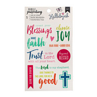AC Bible Journaling Rub-on Sheet: Hallelujah - siirtokuvapakkaus
