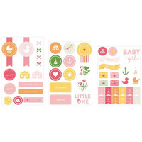Baby Girl Chipboard Stickers