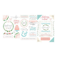 Southern Weddings Chipboard Stickers