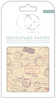 CC Decoupage Paper: Travel Stamps