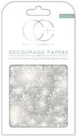 CC Decoupage Paper: Silver Snowflakes