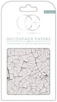 CC Decoupage Paper: White Crack Texture