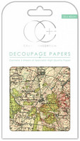 CC Decoupage Paper: Vintage Map 1