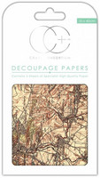 CC Decoupage Paper: Vintage Map 2