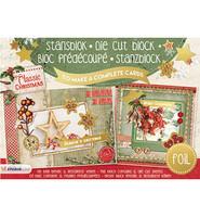 Classic Christmas Foiled A5  - korttikuvalehtiö
