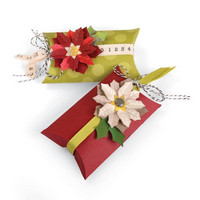 Thinlits: Pillow Box & Poinsettias  -stanssisetti