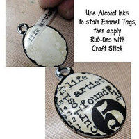 Tim Holtz Idea-ology: Enameled Tags