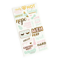 Recollections Planner Stickers:  Uptown Chic Large Phrase - tarrapakkaus