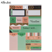 Black & Gold Foil Planner Stickers -tarrakirja