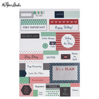 Lazy Weekend Planner Stickers -tarrakirja