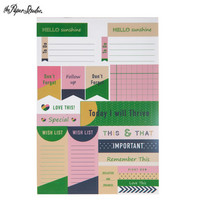 Navy & Green Planner Stickers -tarrakirja