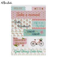 Floral Planner Stickers -tarrakirja