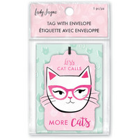 Lady Jayne Chipboard Tag: Less Cat Calls