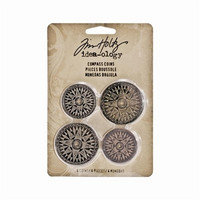 Tim Holtz Idea-ology: Compass Coins