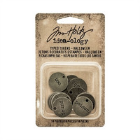 Tim Holtz Idea-ology: Typed Tokens Halloween