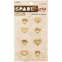 Spare Parts: Gold Heart & Diamond Brads
