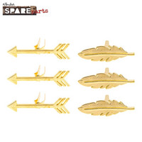Spare Parts: Gold Arrow & Feather Brads