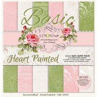 Heart Painted Basic 12x12 - paperikokoelma