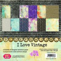 I Love  Vintage 12x12 - paperikokoelma