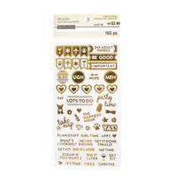 Recollections Planner Stickers:  Uptown Chic Gold Foil Must Do Stickers- tarrapakkaus