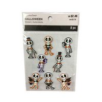 Halloween 3D Stickers: Skeletons