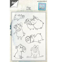 Clear Stamps: Pigs  -leimasinsetti