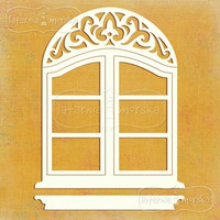 Large Decorative Window -chipboardpakkaus