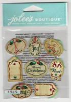 Jolee's Boutique 3D Dimensional Stickers: Mini Christmas Oval Tags Repeats